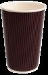 Трехслойный бумажный стакан 450 мл (коричневый)